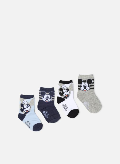 Strømper og tights Disney Chaussettes Mickey Lot de 4 Blå detaljeret billede af skoene