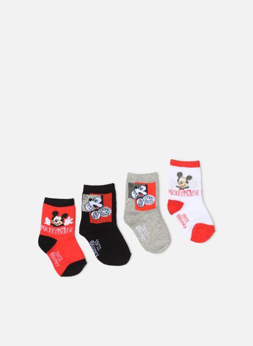 Chaussettes et collants Disney Chaussettes Mickey Lot de 4 Rouge vue détail/paire