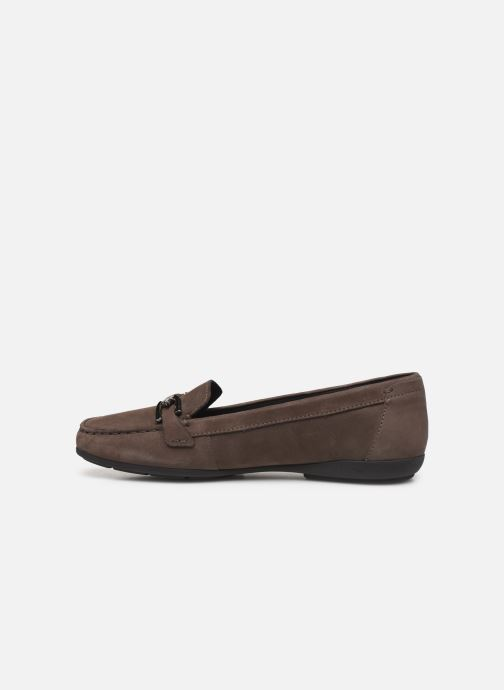 Loafers Geox D ANNYTAH MOC Brown front view