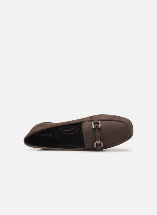 Loafers Geox D ANNYTAH MOC Brown view from the left