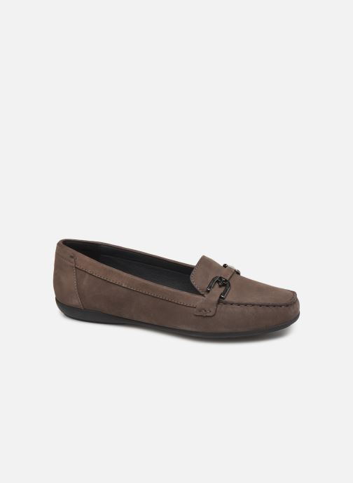 Loafers Geox D ANNYTAH MOC Brown detailed view/ Pair view