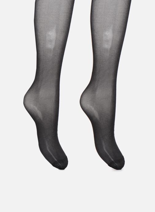Chaussettes et collants Dim Collant BEAUTY RESIST Transparent 15D Lot de 2 Noir vue portées chaussures