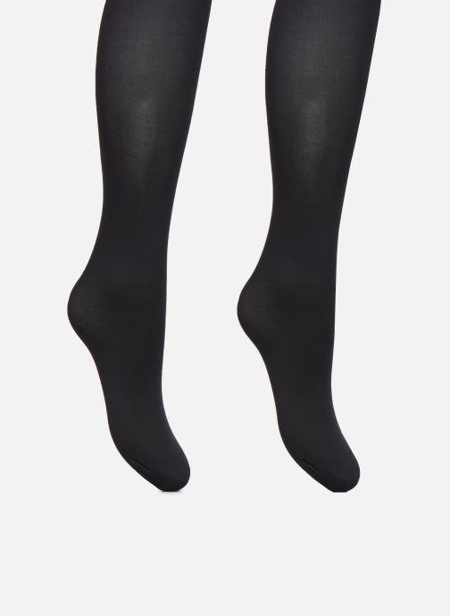 Chaussettes et collants Dim Collant BEAUTY RESIST Opaque 40D Lot de 2 Noir vue portées chaussures