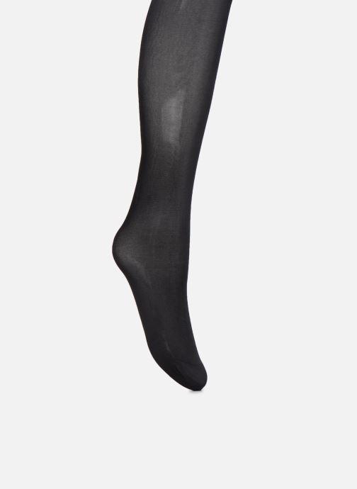 Chaussettes et collants Dim Collant DIAM'S JAMBES FUSELEES Opaque Satiné 45D Noir vue portées chaussures