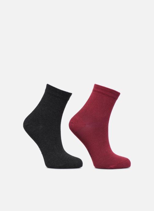 Socks & tights Dim Socquettes COTON Lot de 2 Burgundy model view