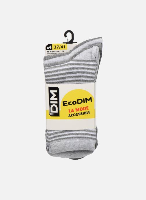 Chaussettes et collants Dim Chaussettes ECODIM STYLE Lot de 4 Gris vue détail/paire