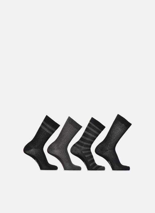 Chaussettes et collants Dim Chaussettes ECODIM STYLE Lot de 4 Noir vue portées chaussures