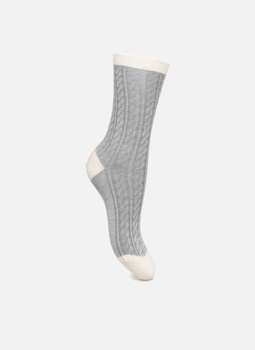 Socken & Strumpfhosen Dim Chaussettes LAINE DOUCE Torsadée grau schuhe getragen