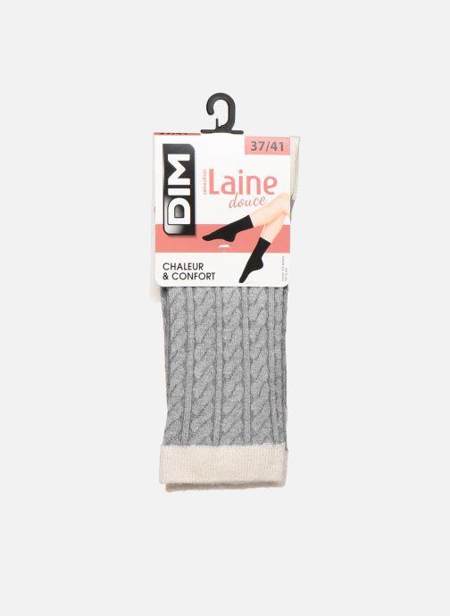 Sokken en panty's Dim Chaussettes LAINE DOUCE Torsadée Grijs detail
