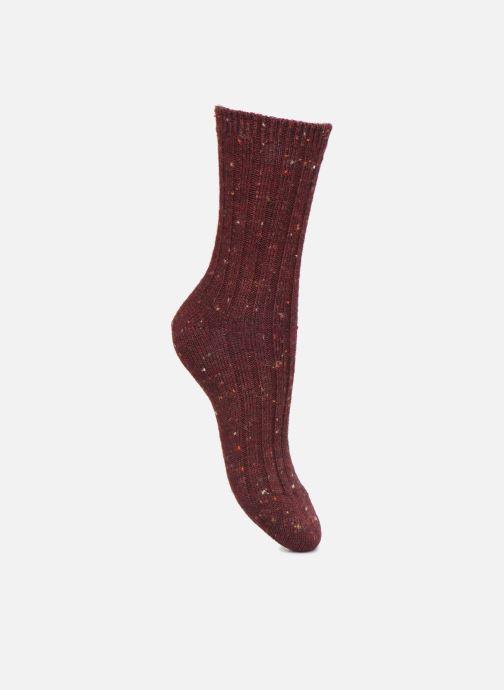 Chaussettes et collants Dim Chaussettes Effet Tweed Moucheté Bordeaux vue portées chaussures