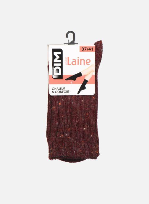 Strømper og tights Dim Chaussettes Effet Tweed Moucheté Bordeaux detaljeret billede af skoene