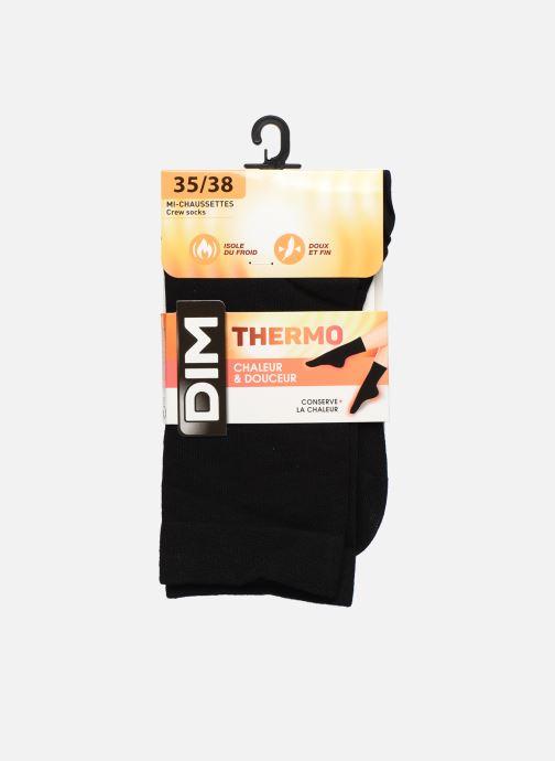 Chaussettes et collants Dim Chaussettes THERMO Noir vue détail/paire