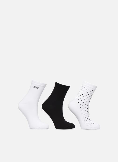 Socks & tights Dim Socquettes POCKETS Lot de 3 White model view