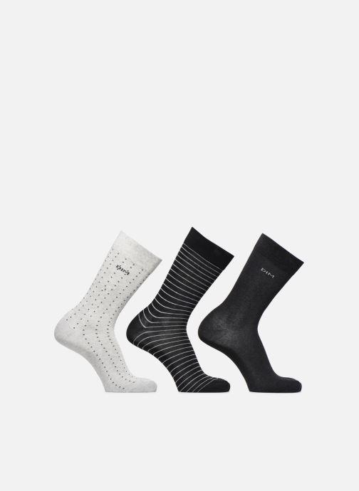 Chaussettes et collants Dim Chaussettes COTON STYLE Pois et Rayures Gris vue portées chaussures