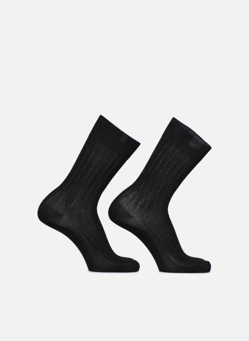 Calze e collant Dim Chaussettes FIL D'ECOSSE Côtes Fines Lot de 2 Nero modello indossato