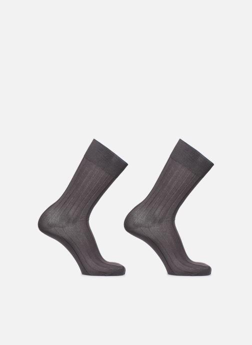 Sokken en panty's Dim Chaussettes FIL D'ECOSSE Côtes Fines Lot de 2 Grijs detail