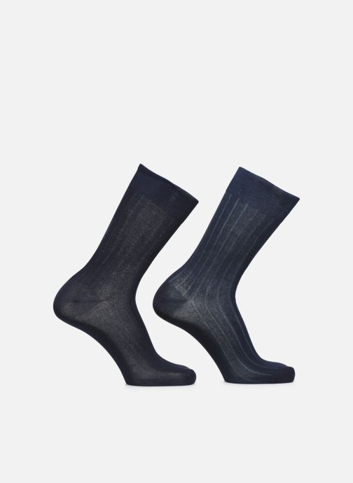 Socks & tights Dim Chaussettes FIL D'ECOSSE Côtes Fines Lot de 2 Blue detailed view/ Pair view