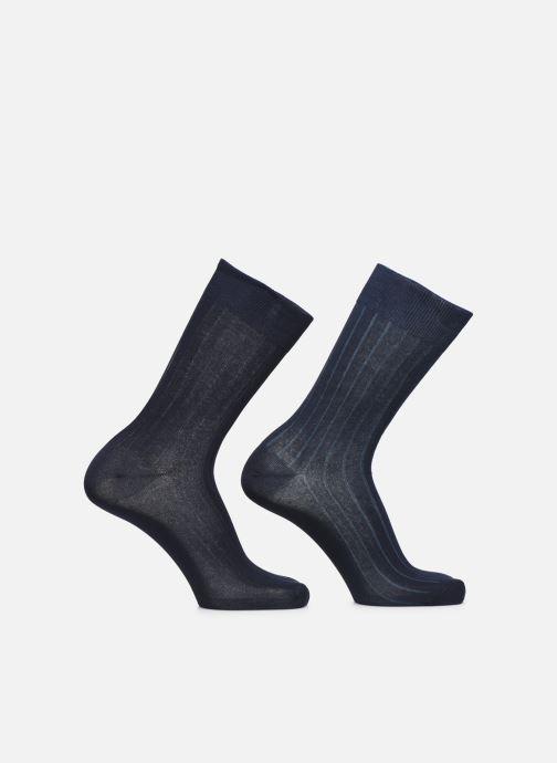 Sokken en panty's Dim Chaussettes FIL D'ECOSSE Côtes Fines Lot de 2 Blauw detail