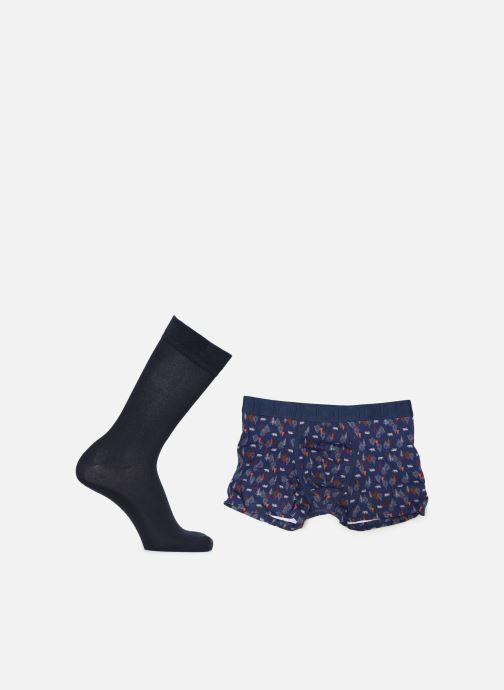 Chaussettes et collants Dim Coffret Edition Limitée Boxer + Chaussette Bleu vue portées chaussures