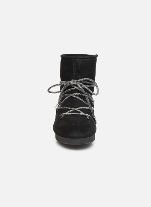 Scarpe sportive Moon Boot Moon Boot Far Side Low Suede Nero modello indossato