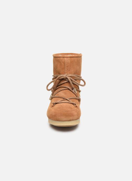 Chaussures de sport Moon Boot Moon Boot Far Side Low Suede Marron vue portées chaussures