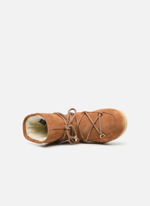 Chaussures de sport Moon Boot Moon Boot Far Side Low Suede Marron vue gauche