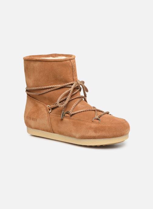 Chaussures de sport Moon Boot Moon Boot Far Side Low Suede Marron vue détail/paire
