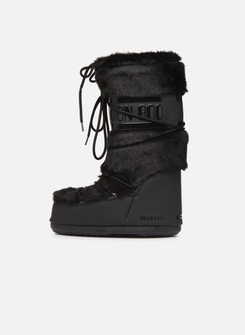 Sport shoes Moon Boot Moon Boot Classic Faux Fur Black front view