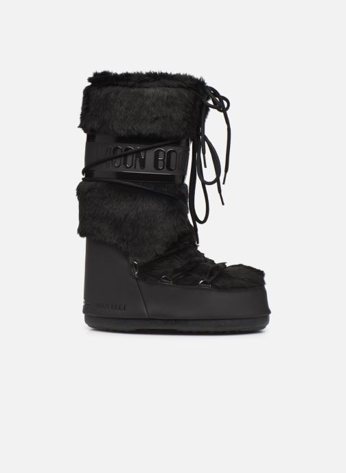Sport shoes Moon Boot Moon Boot Classic Faux Fur Black back view