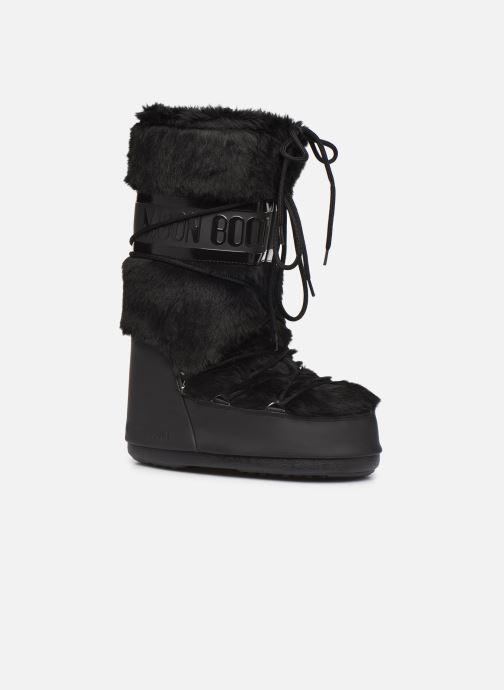 Sport shoes Moon Boot Moon Boot Classic Faux Fur Black detailed view/ Pair view