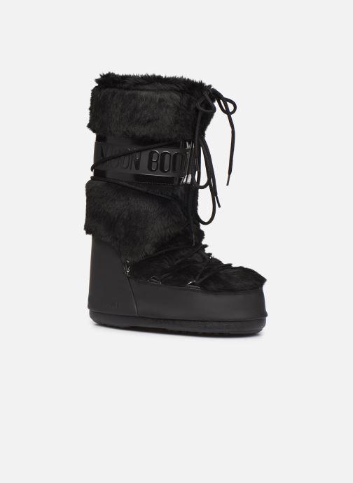 Chaussures de sport Moon Boot Moon Boot Classic Faux Fur Noir vue détail/paire