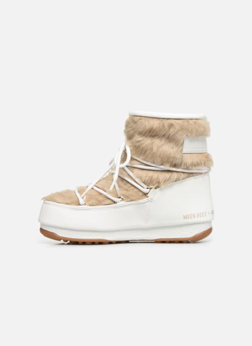 Sport shoes Moon Boot Moon Boot Monaco Low Fur WP White front view
