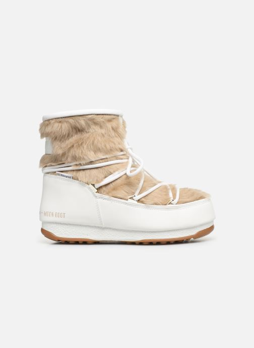 Sport shoes Moon Boot Moon Boot Monaco Low Fur WP White back view