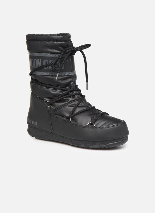 Sportschuhe Moon Boot Moon Boot Mid Nylon WP schwarz detaillierte ansicht/modell