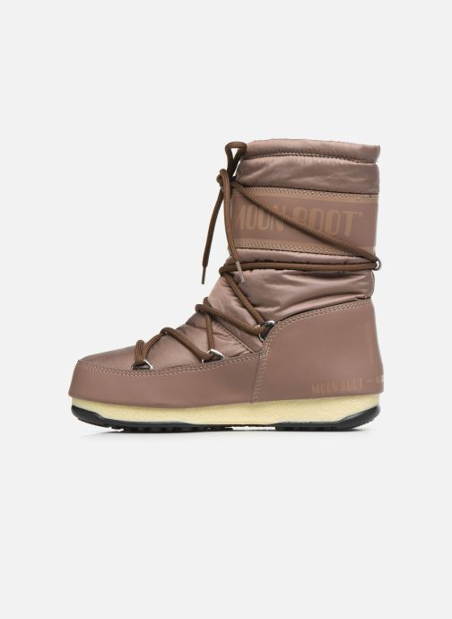 Sport shoes Moon Boot Moon Boot Mid Nylon WP Brown front view