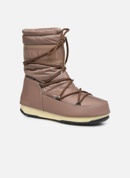 Sport shoes Moon Boot Moon Boot Mid Nylon WP Brown detailed view/ Pair view