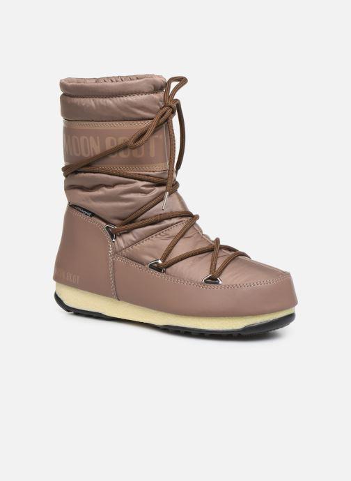 Chaussures de sport Moon Boot Moon Boot Mid Nylon WP Marron vue détail/paire