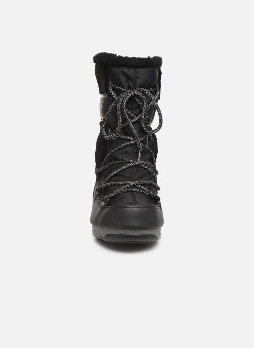 Chaussures de sport Moon Boot Moon Boot Monaco Wool Mid WP Noir vue portées chaussures
