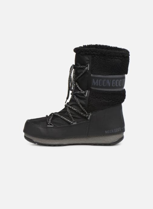 Zapatillas de deporte Moon Boot Moon Boot Monaco Wool Mid WP Negro vista de frente