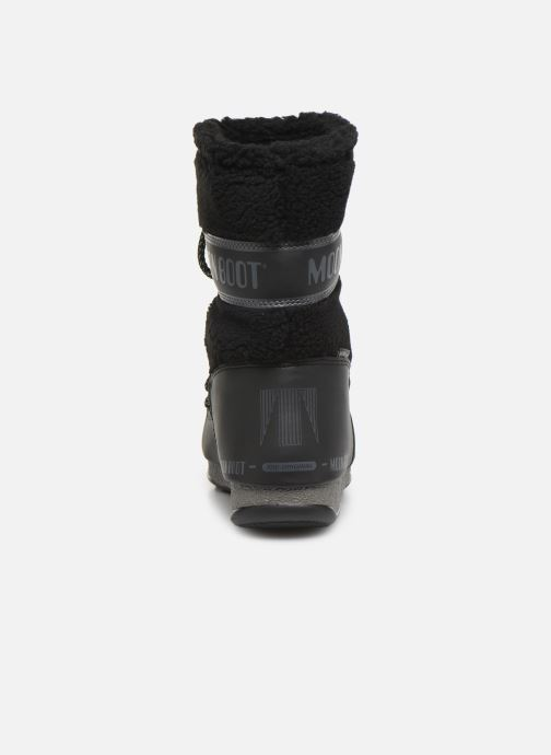Chaussures de sport Moon Boot Moon Boot Monaco Wool Mid WP Noir vue droite