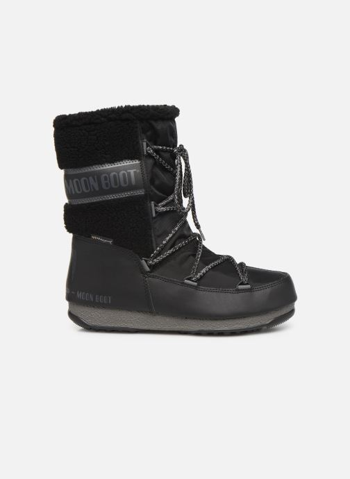Sport shoes Moon Boot Moon Boot Monaco Wool Mid WP Black back view