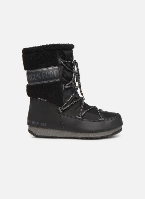 Sportschoenen Moon Boot Moon Boot Monaco Wool Mid WP Zwart achterkant