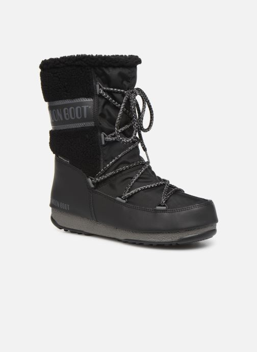 Sport shoes Moon Boot Moon Boot Monaco Wool Mid WP Black detailed view/ Pair view