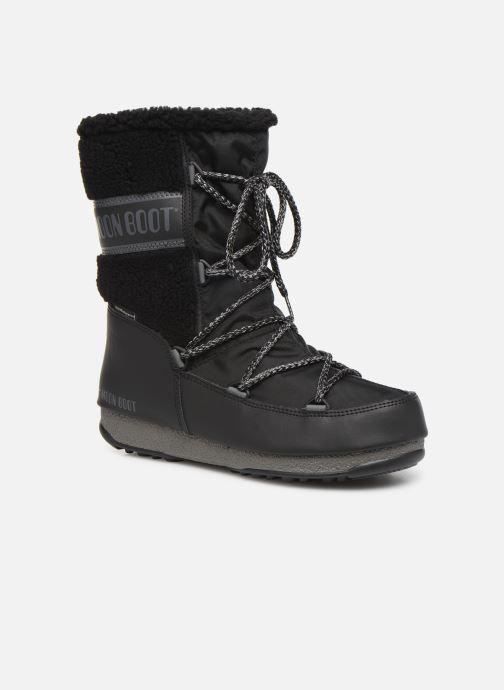 Chaussures de sport Moon Boot Moon Boot Monaco Wool Mid WP Noir vue détail/paire