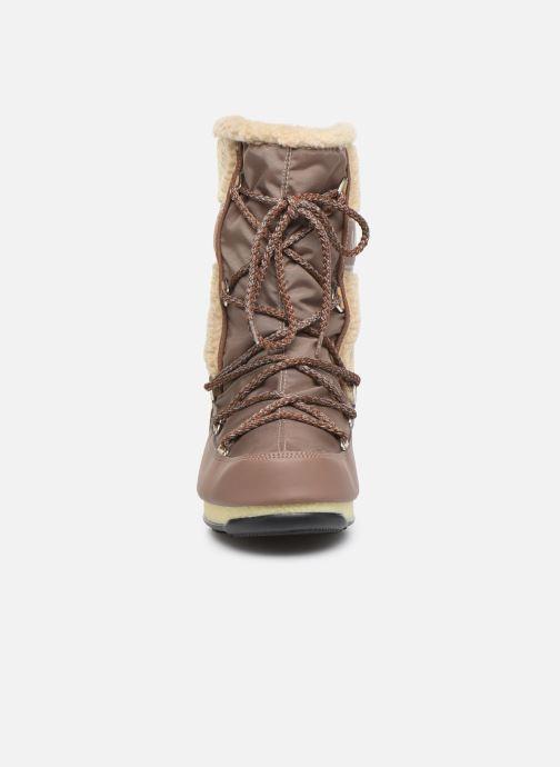 Scarpe sportive Moon Boot Moon Boot Monaco Wool Mid WP Marrone modello indossato