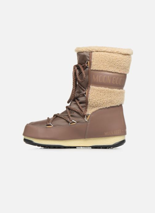 Sport shoes Moon Boot Moon Boot Monaco Wool Mid WP Brown front view