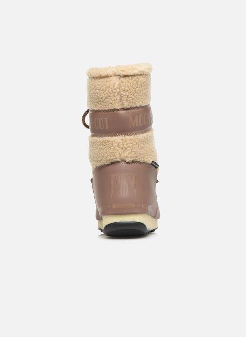 Zapatillas de deporte Moon Boot Moon Boot Monaco Wool Mid WP Marrón vista lateral derecha