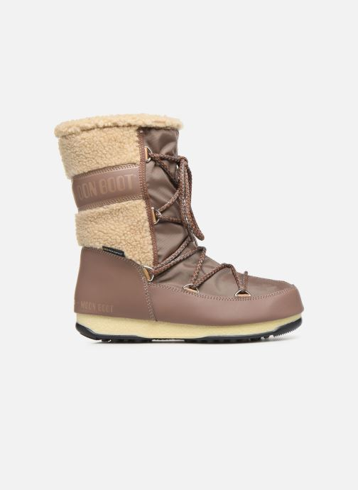 Sport shoes Moon Boot Moon Boot Monaco Wool Mid WP Brown back view