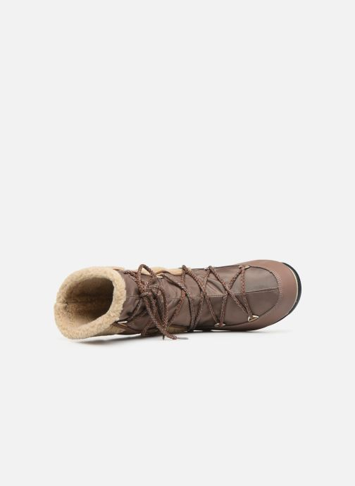 Sport shoes Moon Boot Moon Boot Monaco Wool Mid WP Brown view from the left