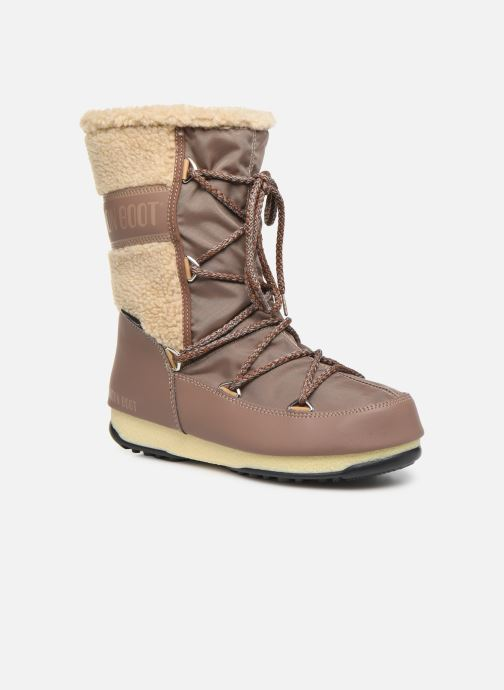 Sport shoes Moon Boot Moon Boot Monaco Wool Mid WP Brown detailed view/ Pair view